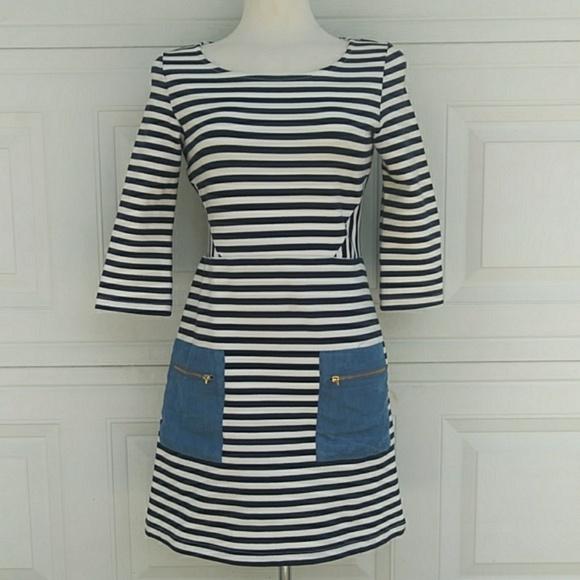 Anthropologie Dresses & Skirts - 🍁Tabitha {Anthro} 3/4 Sleeves Striped Dress